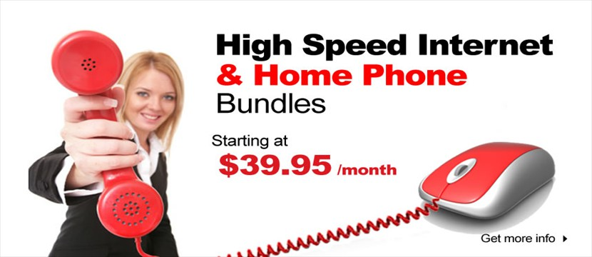 Phone and Internet bundles save you monet on your home phone.